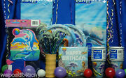 Dolphin Party Set 18 Cups Napkins Plates Tablecover Invites Banner Centerpiece+