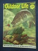 Vintage Men's Adventure Magazine Outdoor Life Aug 1955 Bass Attacking Lure/hook