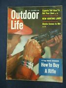 Vintage Men's Adventure Magazine Outdoor Life September 1958 Rifle Buying Guide