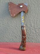 Vintage No 1 Estwing Axe Hatchet With Original Leather Sheath - Usa