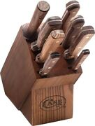 Case Cutlery - 9 Piece Kitchen Knife Set - Includes Wood Knife Block - Usa Made