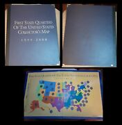 First State Quarters Of The Us Collector Map Money Coins 1999-2008 Protector @_@