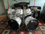 Vintage 1970s Rogers Drums New England White Double Bass Set New Lowered Price
