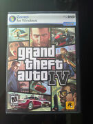 Grand Theft Auto Iv 4 Gta Pc Dvd For Windows Xp Vista - 2 Discs And All Manuals