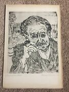 Vintage Van Gogh Etching And Post Cards Pre Owned Condition