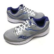 Saucony Grid Cohesion 11 Running Womens Shoes Sz 9 W Blue Gray Purple S10421-6