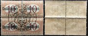 Italy Costantinopoli - Sassone Tax N.1 Mnh Block Of 4 Cv 960 With Certificate