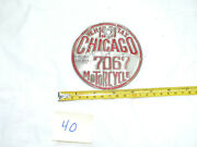 1971 Chicago Motorcycle Vehicle Tax License Plate Medallion 7067