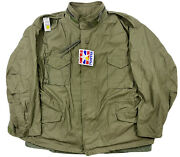 Vintage Us Army Military Od Green M-65 Field Coat Jacket Menandrsquos Size 3xl Xxxl New