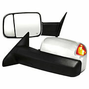 Towing Mirrors For 2009-2011 Dodge Ram 1500 [chrome Power/heated] Premium Fx