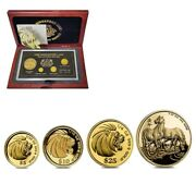 1990 Singapore Gold/silver Year Of The Horse Lion Collectorand039s Edition Proof Set