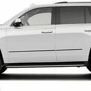 Factory Style Side Molding Trim For 2015-2019 Chevy Tahoe [stainless Steel] 4p