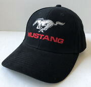 Ford Mustang Cotton Black Hat Cap Adjustable Official Licensed Product Osfm Euc