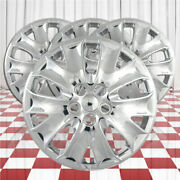 Set Of 4 Wheel Covers Fits 2013-2014 Ford Fusion 5 Split Spoke 16 Inch - Chrome