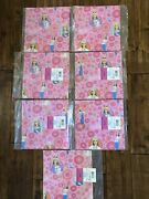 Huge Lot 7 Hallmark Barbie Fashion Doll Gift Wrapping Paper Sheets