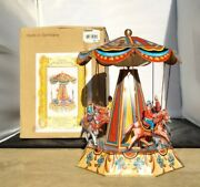 4 Horse Carousel Tin Toy Made In Germany In Original Box By Josef Wagner 2005