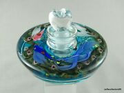 Steven Lundberg Paperweight Style Perfume Bottle W Loving Fish Couple Dated 2000