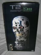 Sideshow Terminator 2 T-800 Bust Combat Ver. Collectibles New