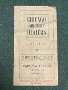 Antique 1902 Advertising Chicago Air-tight Heaters Booklet