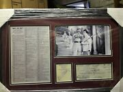 Abbott And Costello Signed Check And Cut Who's On First Photo And Full Dialog Psa