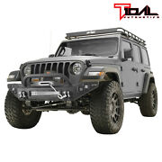 Tidal Full Width Front Bumper With Led Lights Fit For 2018-2021 Jeep Wrangler Jl