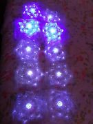 Christmas Lights Lot 2 Sets Snowflakes Color Change Blue To White 10 Total