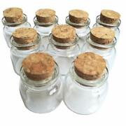 Luo House 10pcs 15ml Cute Small Cork Stopper Glass Bottle Vials Jars With 30x40m