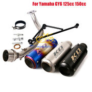 For Yamaha Gy6 125cc 150cc Exhaust Muffler Silencer Front Link Pipe Slip On 51mm