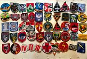 Combo 45 X Patches Airborne Lrrp Recon Usn Pbr Arvn Usafussf M
