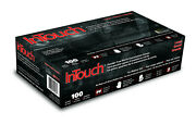 Case Of 10 Boxes 100ct Intouch B311 5mil Black Nitrile Gloves