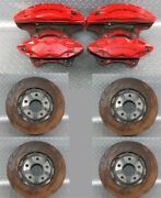 14-19 C7 Z51 11k Mile Set Front And Rear Brembo Brake Calipers Slotted Rotors Oem