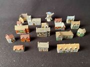 """""""whimsey On Why"""" Miniature Porcelain Buildings From Wade England Set Of 18"""