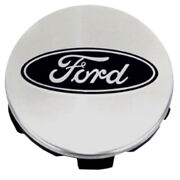 Polished Center Cap With Ford Logo W/5clips Fits 2015-2017 Ford F-150 3