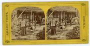 China Stereoview Tea House In Hong Kong By E D Bangs 1860s