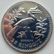 Malaysia 25 Ringgit 1976 Silver Argent Silber