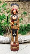 John Gallagher Carved Wooden Cigar Store Indian 5 Ft. Buffalo Knife