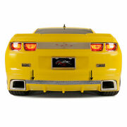Rear Laser Mesh Valance Trim For 10-13 Camaro Rs W/rs Ground Effects [polished]