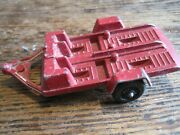 Vintage Tootsie Toy Red Motorcycle Trailer Made In Usa
