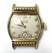 Vintage Gruen Veri-thin Wrist Watch Deco Dress 17 Jewels Square