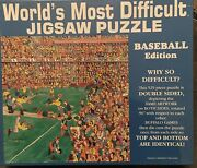 Vintage Worlds Most Difficult Jigsaw Puzzle Baseball Edition 529 Pieces 1994 Usa