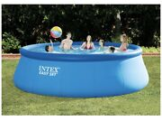 Intex 15' X 48 Inflatable Easy Set Pool Pool With Filter Pump Ladder Cover Tarp