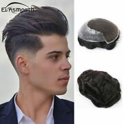 Fashion Men Toupee Hair Replacement System Lace Male Wig Natural Remy Human Hair