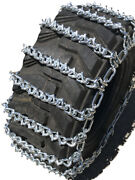 Snow Chains 11.2 24 11.2-24 Two-link V-bar Tractor Tire Chains Set Of 2
