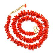 Coral Beaded Necklace,vintage Branch Coral Necklace,coral Jewelry,coral Beads