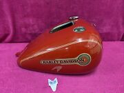 Harley Softail Gas Fuel Tank 2005 2006 Firefighter Efi Red Fuel Injected Nice