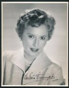 Barbara Stanwyck - 1950and039s Signed Double Weight 8x10 Promo Portrait - Autograph
