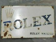 1930and039s Old Antique Vintage Rare Rolex Watches Porcelain Enamel Sign Collectible