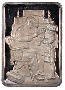 Normal Rockwell Doctor And Doll Silver 1-ounce .999 Bar 1960