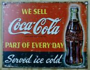 We Sell Coca Cola Part Of Everyday Tin Sign Soda Bottle Pop Sprite Red Green