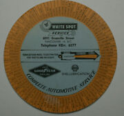 Good Year Advertisement White Spot Service Shell 50and039s Give Away Service Station